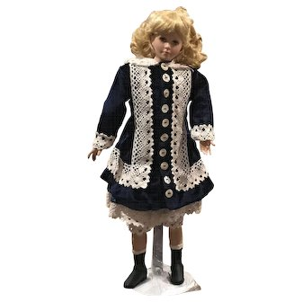 "19"" Porcelain Doll ""Jeanette"" by Artists Paul Crees and Peter Coe"