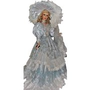 "42"" Porcelain Doll ""Blue Ice"" by Artist Rustie"