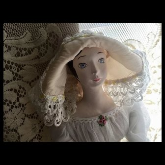 Vintage Boudoir Doll - Very Nice Details - Hand Made / Hand Painted Doll - Artist Made