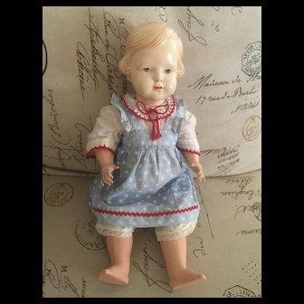 Vintage Cellba Celluloid Girl Doll Schoberl & Becker - Doll Mark Winged Mermaid - Germany