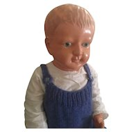 "Vintage Celluloid Boy 22"" Doll - Lucky Toys - Tokyo Japan - Circa: 1930's"