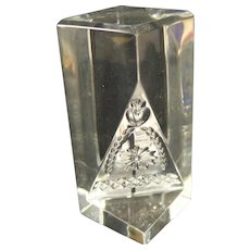 Waterford Times Square 2001 Hope for Abundance Prism Paperweight