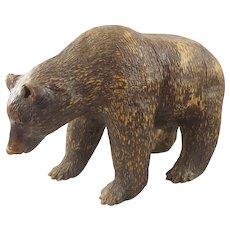 Vintage Redware Full Bodied Brown Bear