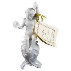 Capodimonte Ginori Figurine Cherub with cymbals - Mint with Tags