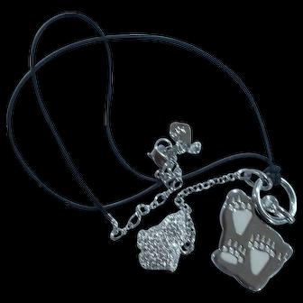 Swarovski Necklace with Crystal Bears