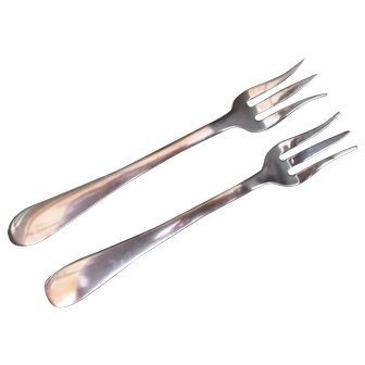 Pair of Sterling Silver Pickle Forks