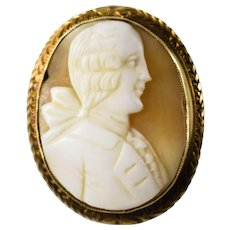 Georgian 14k Male Cameo Pendant Brooch - Red Tag Sale Item