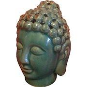 Ceramic, glazed Buddha incense burner ..