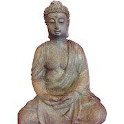 Beautifully patina garden/home cast Buddha..