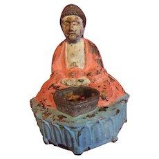 Pre WWll, cast iron Buddha,incense burner..