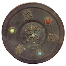 Wall plaque that was an original Hindu offering plate