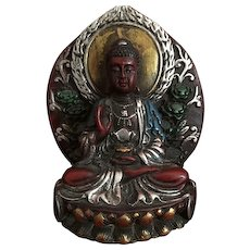 Beautifully hand painted praying Buddha