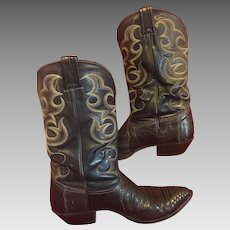 Authentic Nocona lizard cowboy  boots..