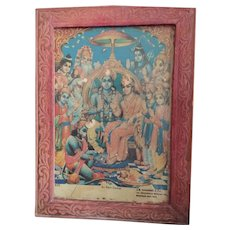 Authentic vintage Hindu print..
