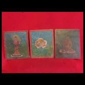 Complete set, vintage Tibetian  prayer cards