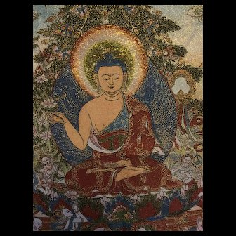 Tapestry of Buddha, surrounded Bodhisattva