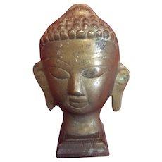 1940's brass bust Buddha..