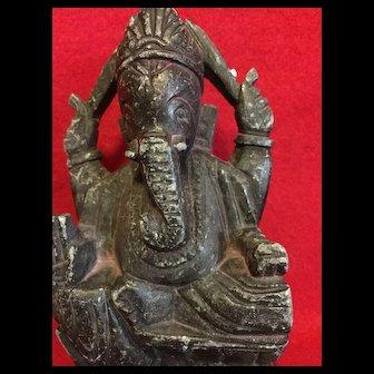 Carved soap stone Ganesha