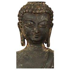 Aged vintage Buddha,brass/bronze
