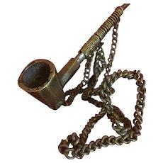 Vintage, brass neck piece..