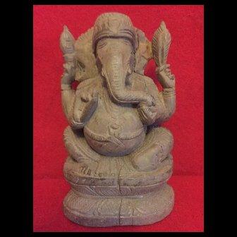 1950-60's carved Ganesha