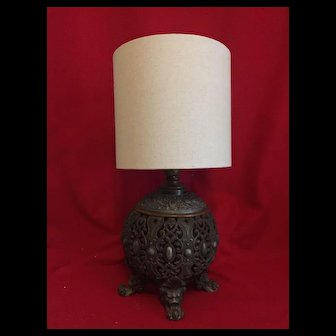 1800's B&H kerosene  lamp/ converted electric lamp
