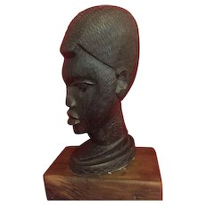 "Authentic ""Ebony"" African sculpture.."