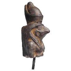 900-600 B.C. Egyptian Steatite Figure of Horus the Falcon