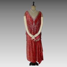 1926 WORTH Dévoré Velvet Evening Dress, Paris, antique gown, antique dress, Flapper Dress, Charleston Dress