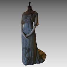1908 LAFERRIÈRE Antique Evening Gown, Paris, antique gown, Edwardian Dress, antikes Kleid