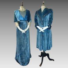 1908 WORTH Walking Suit, Paris, antique Walking dress, antique gown, Edwardian dress