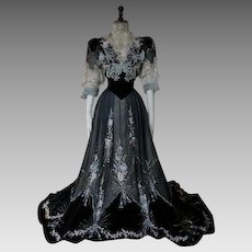 1906 GUSTAVE BEER Antique Reception and Society Dress, antique gown, Edwardian Dress, robe ancienne, abito antico
