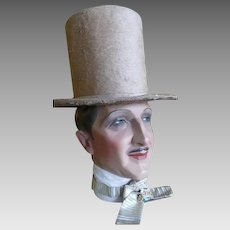 1845 Biedermeier Stove Pipe Hat, Romantic Period Hat, Victorian Hat, Antique hat