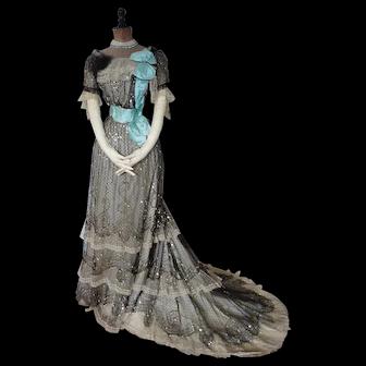 1905 Evening Dress, Edwardian Dress, antique gown, antique dress, antikes Kleid