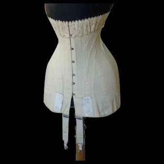 1908 ESCO Corset, Germany, antique corset, Edwardian corset