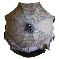 1835 Romantic Period Umbrella, antique Parasol, antique Umbrella, stroll umbrella, carriage parasol, Biedermeier