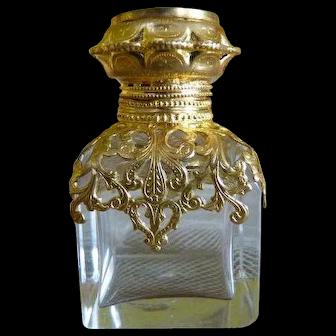 1890 Antique Perfume Flacon, Paris, Victorian perfume flacon