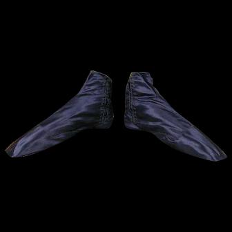 1830 Romantic Period Boots, antique boots, antique shoes, Biedermeier shoes, Biedermeier Boots