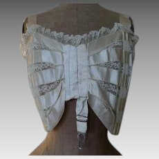 1908 GRACE HILL Bust Bodice, antique Bra, antique Corset, Edwardian Corset