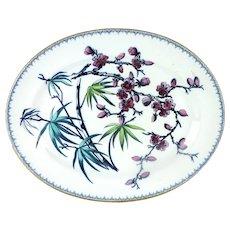 Aesthetic Movement Ironstone Platter, Hammersley & Co. Bramble Pattern