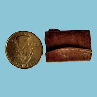 Tiniest antique leather French Fashion calling card holder