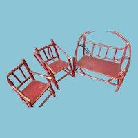 1920s Adirondak Red Doll Furniture