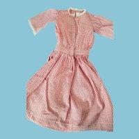 Antique Gingham Doll Dress