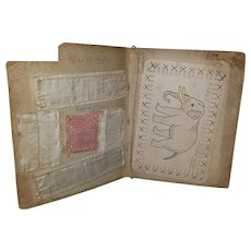 "6""x8"" 1903 Child's sampler booklet"