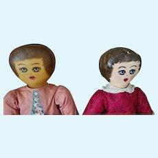 Vintage Pr of Presbyterian rag dolls from Bucyrus, Ohio