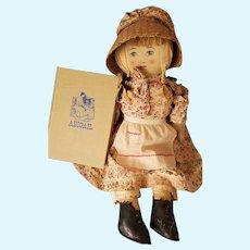 """21"""" Brown Co. Portia Sperry Abigail cloth doll"""
