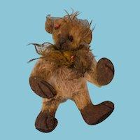 "4.5"" Detailed Miniature artist's mohair jointed teddy bear"