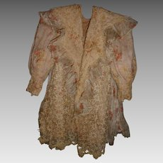Exquisite antique garment to be displayed or for german or french doll dress