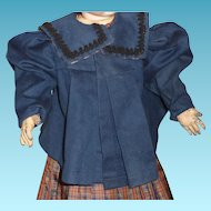 Antique doll wool jacket for german or french doll
