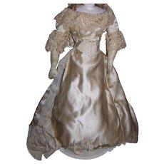 Spectacular original antique wedding dress for german or french fashion doll